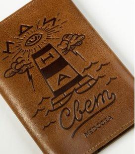 "Обложка на паспорт MEDOOZA ""Svet"" (brown)"