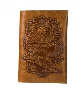 "Обложка на паспорт MEDOOZA ""Dragon"" (brown)"