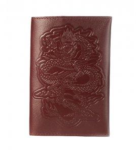 "Обложка на паспорт MEDOOZA ""Dragon"" (wine)"