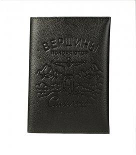 """Обложка на паспорт MEDOOZA """"Вершины"""" (black)"""
