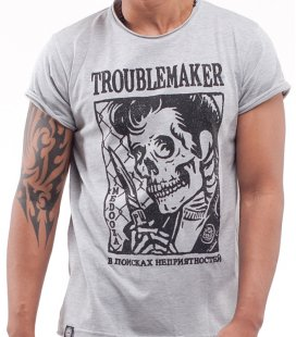 "Футболка MEDOOZA ""Troublemaker"" (серый)"