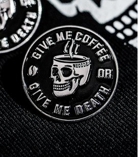 "Значок MEDOOZA ""Coffee Or Death"""
