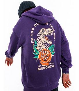 """Худи MEDOOZA """"Dinosaur"""" (фиолетовый)"""