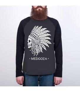"""Лонгслив MEDOOZA """"Chief"""" (графит/черный)"""