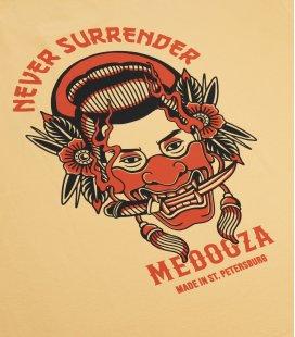 """Футболка MEDOOZA """"Never Surrender"""" (абрикос)"""