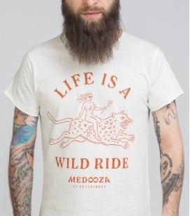 """Футболка MEDOOZA """"Wild Ride"""" (экрю)"""