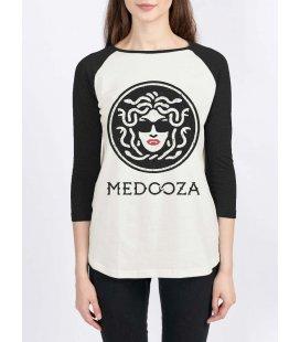 """Лонгслив MEDOOZA """"Logo"""" (W) (экрю/черный)"""